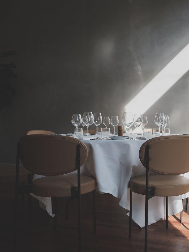 bord i frokostrestauranten
