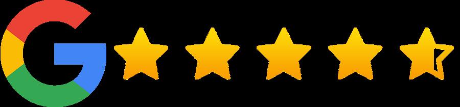stjerne anmeldelser fra brugere af Google